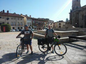 Eduardo y Antonio antes de comenzar el Camino del Cid.