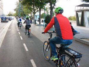 Desplazamientos en bicicleta eléctrica.